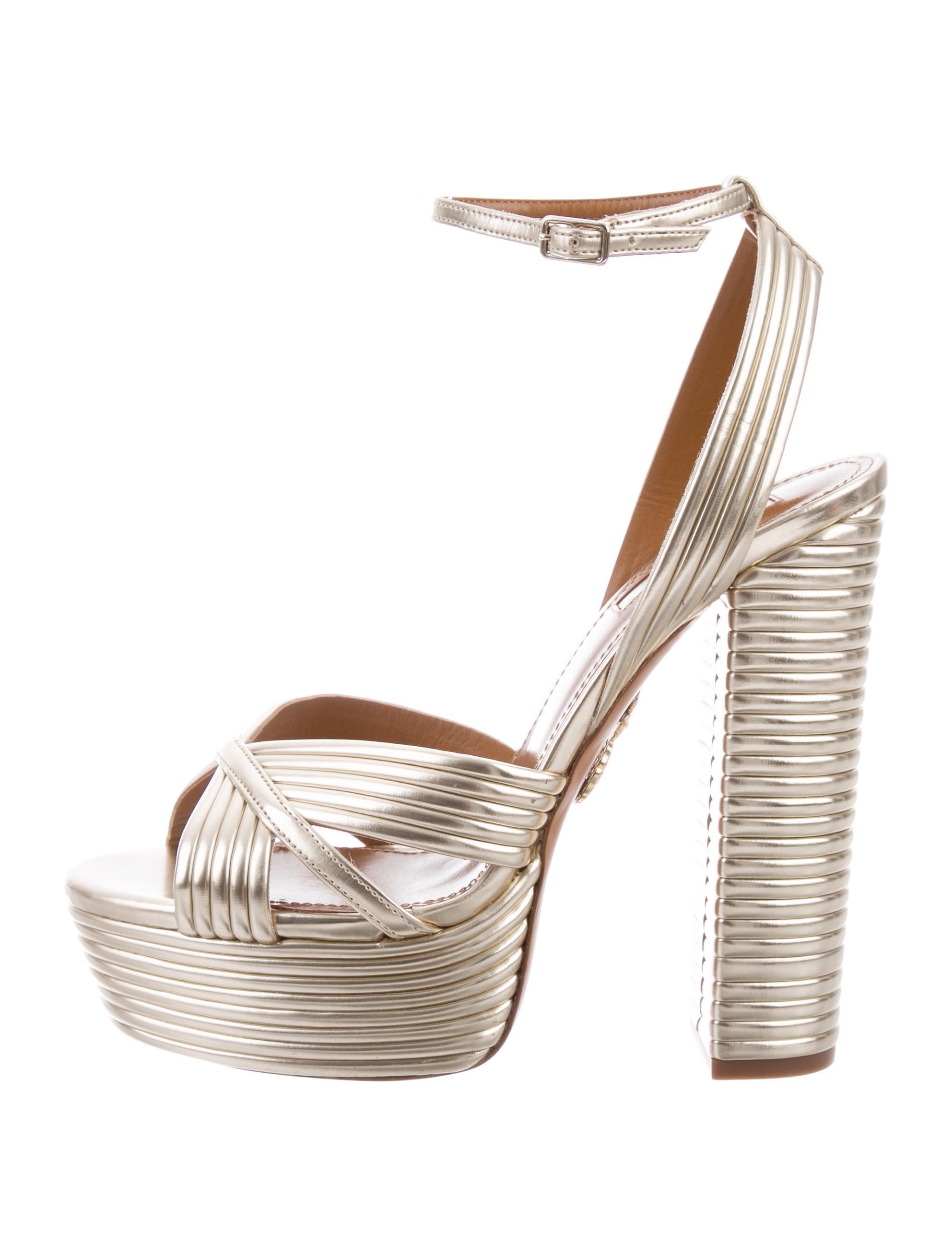 8e54312095d Aquazzura Sundance Plateau Platform Sandals w  Tags - Shoes ...