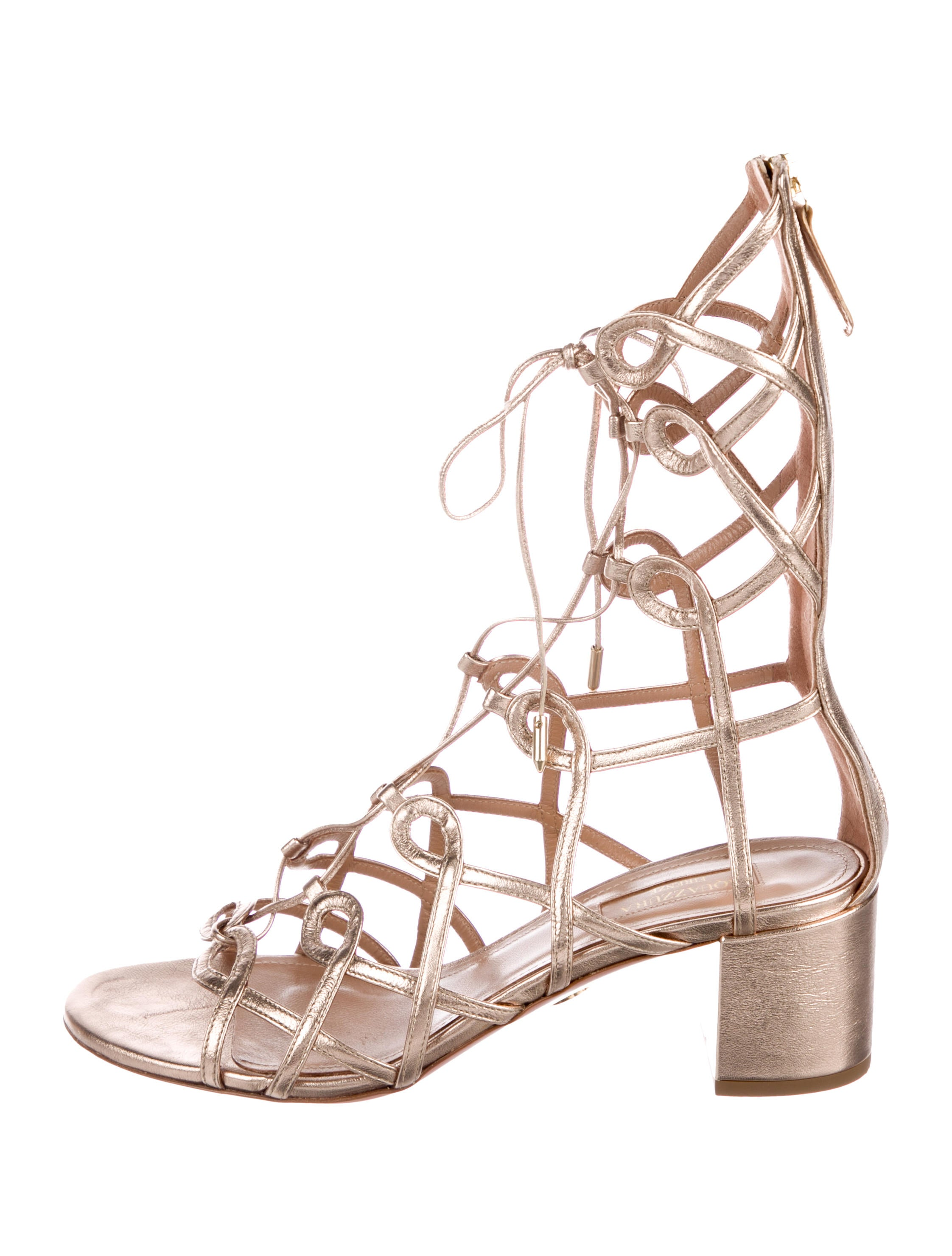 8069cc31370 Aquazzura Mumbai Gladiator Sandals - Shoes - AQZ27656