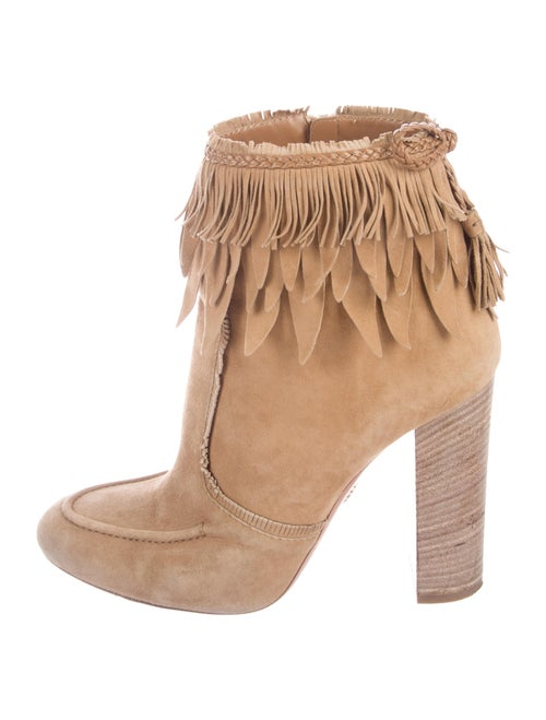 Aquazzura Tiger Lily Suede Ankle Boots Shoes Aqz28383 The