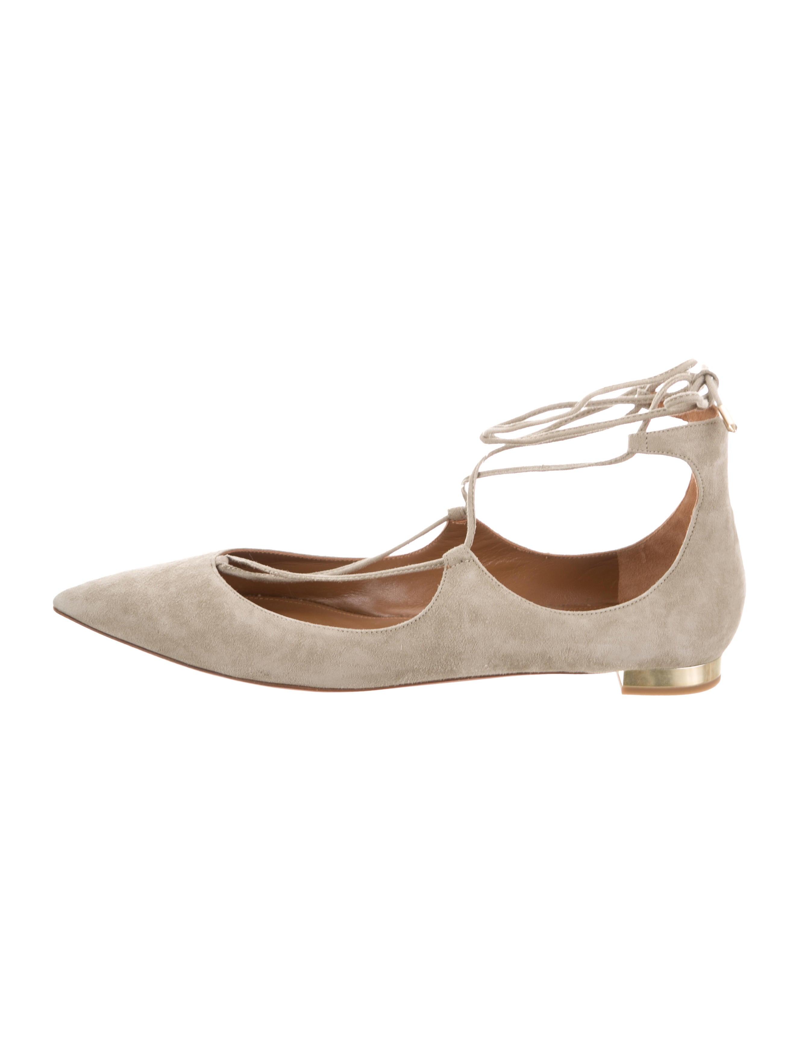 32686156b Aquazzura Christy Pointed-Toe Flats - Shoes - AQZ29193 | The RealReal