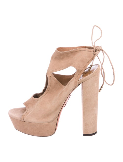 Aquazzura Sexy Thing Platform Pumps Nude