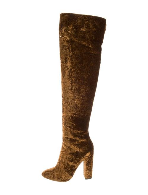 Aquazzura Baroque Over-The-Knee Boots Cachi