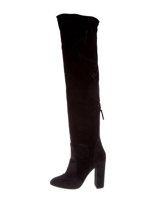 Aquazzura Velvet Over-The-Knee Boots Black