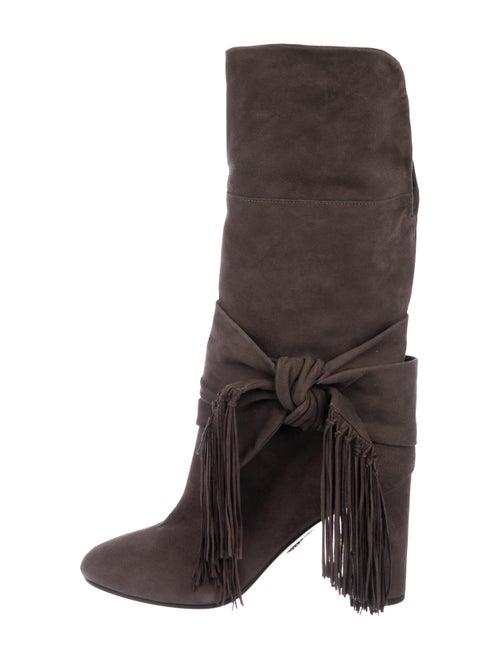 Aquazzura Fringe Knee-High Boots