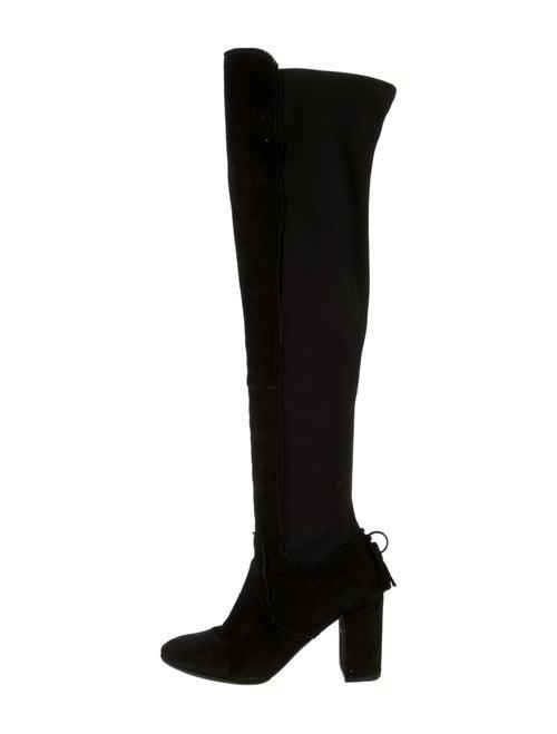 Aquazzura Suede Over-The-Knee Boots Black