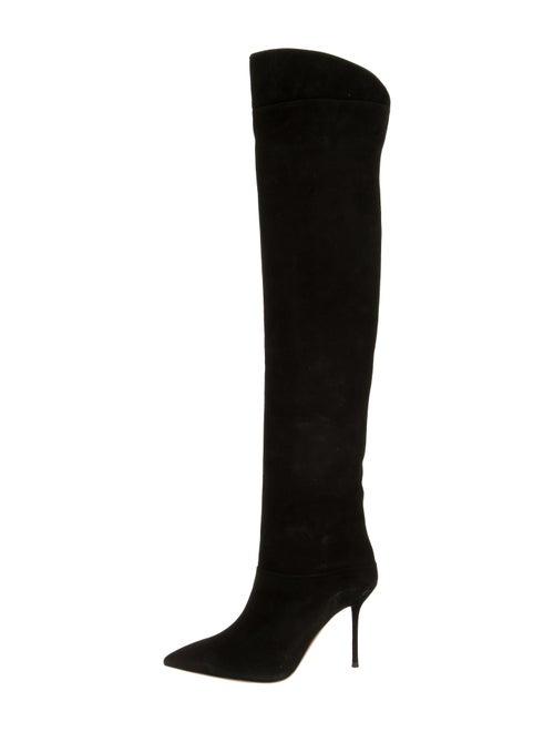 Aquazzura Lancaster Over-the-Knee Boots Black
