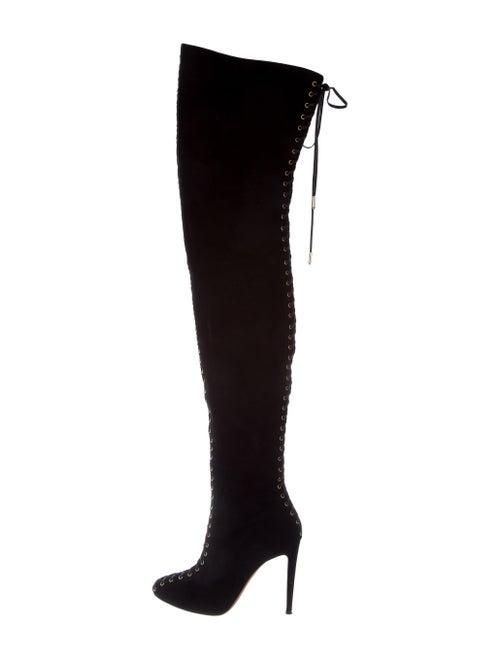 Aquazzura Victorian Thigh-High Boots Black