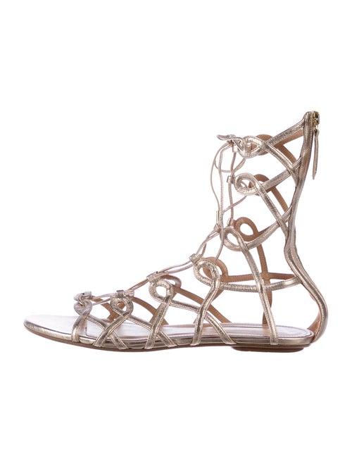 Aquazzura Gladiator Leather Gladiator Sandals Meta