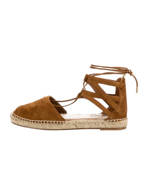 Aquazzura Suede Espadrilles Brown