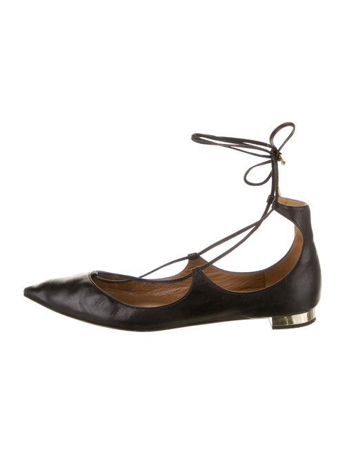 Aquazzura Leather Ballet Flats Black