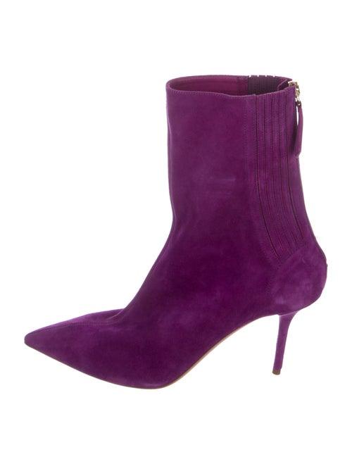 Aquazzura Suede Boots Purple