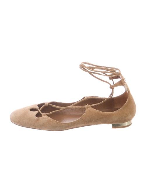 Aquazzura Suede Ballet Flats