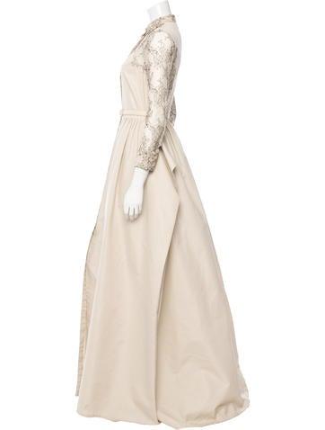 Long Sleeve Lace-Paneled Dress
