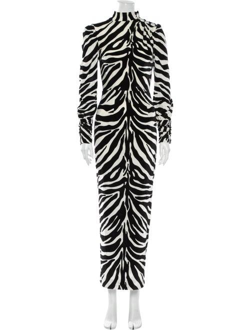Alessandra Rich Animal Print Long Dress