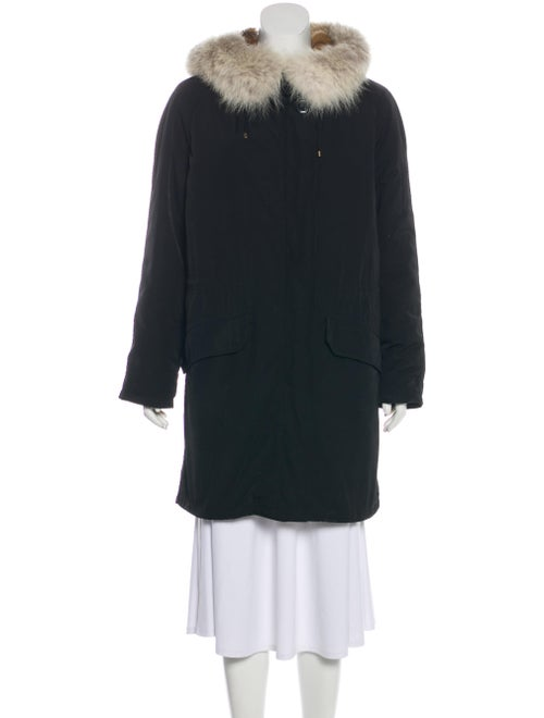 Army by Yves Salomon Fur-Trimmed Hooded Parka Blac