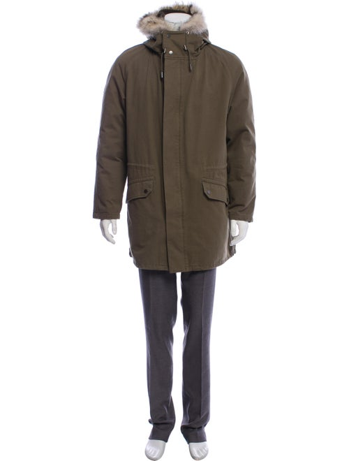 Army by Yves Salomon Hooded Down Parka olive