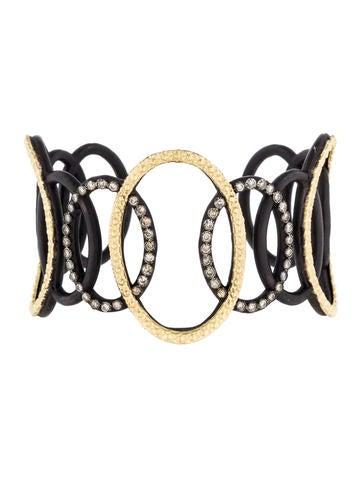 Armenta Diamond Open Circle Link Cuff None