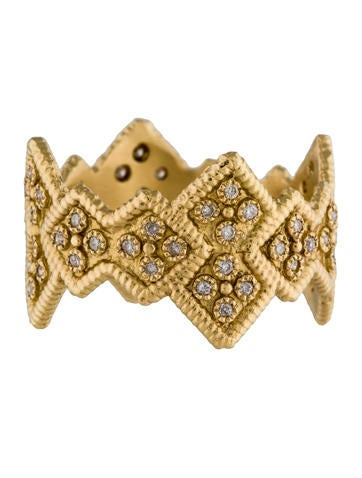Armenta 18K Diamond Sueno Wide Cravelli Band
