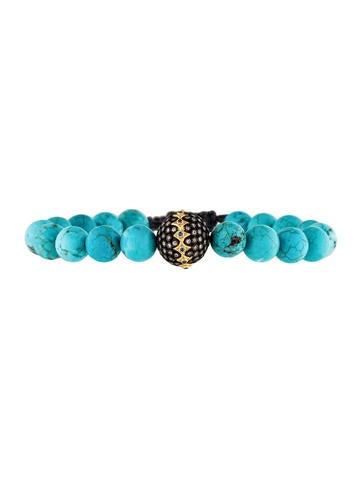 Armenta Diamond & Magnesite Bead Old World Bracelet None
