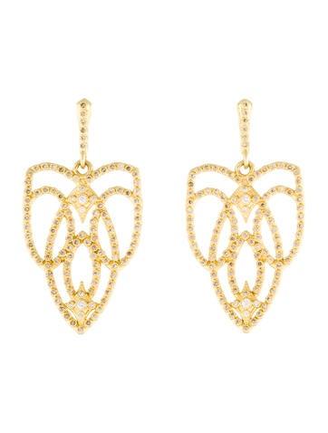 Armenta 18K Diamond Sueno Open Scroll Earrings