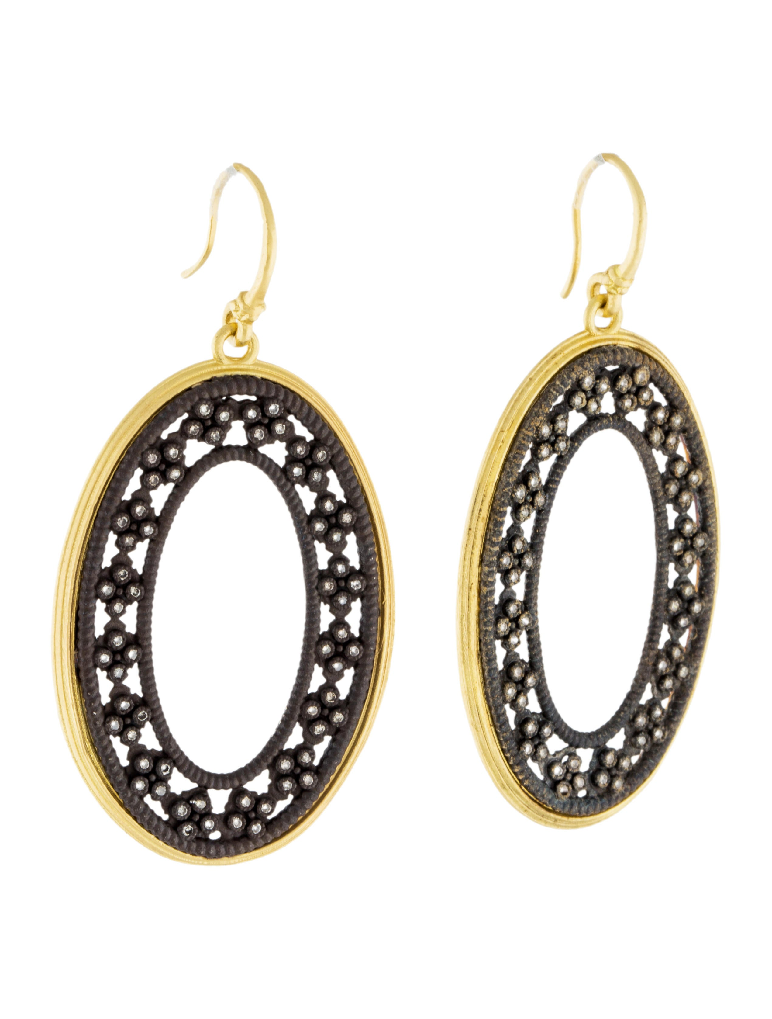 French Pillows Home Decor Armenta Diamond Oval Cravelli Earrings Earrings