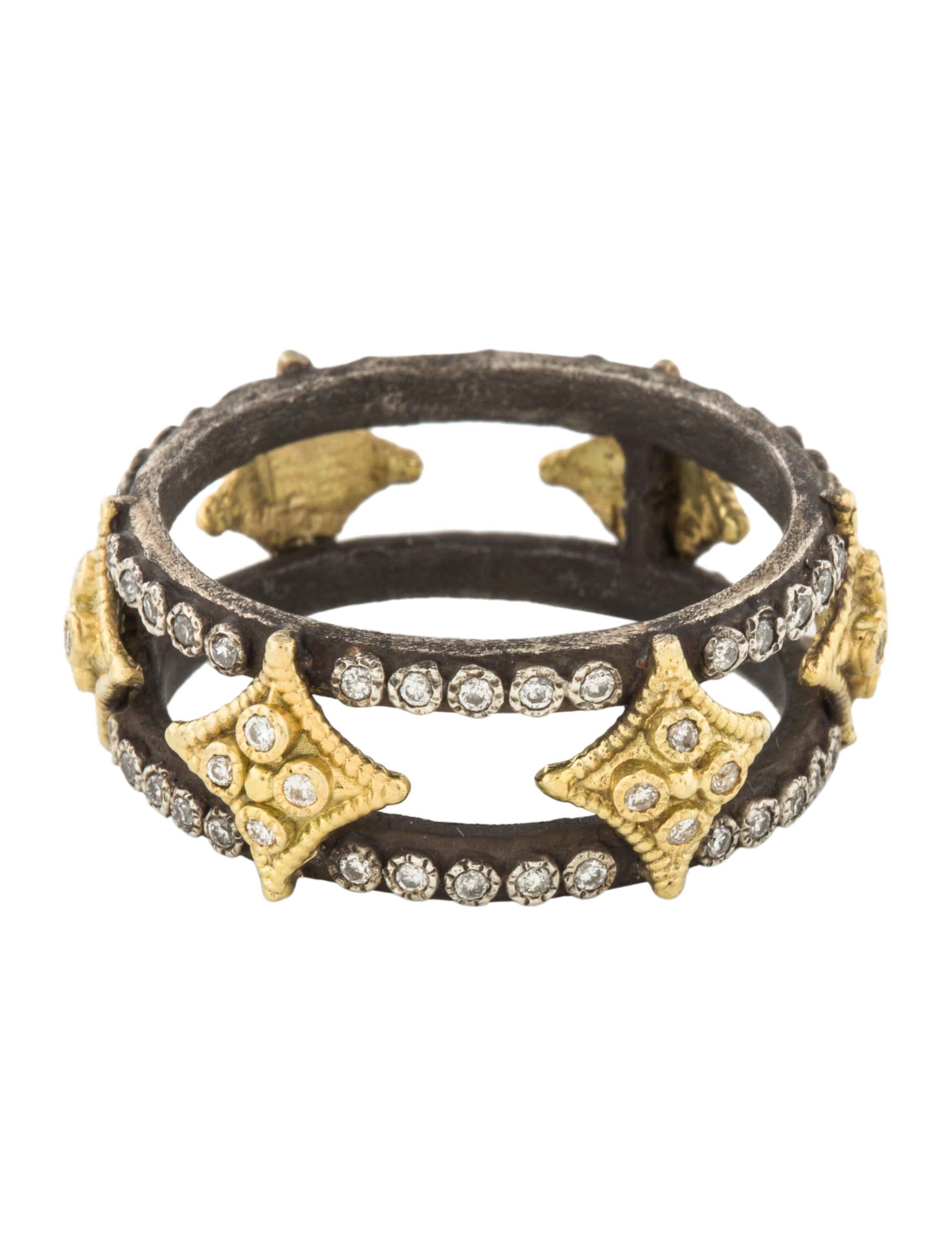 Armenta Double Crivelli Wide Band Ring MEVYmuzL