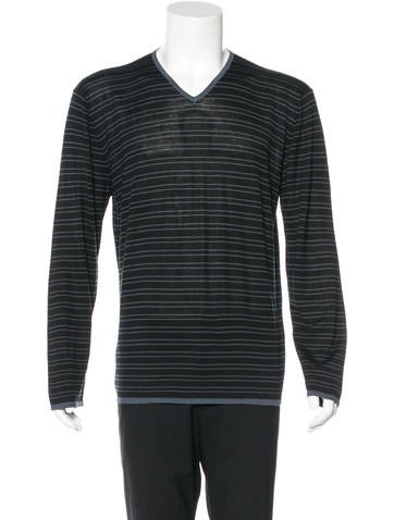 Armani Collezioni Silk V-Neck Sweater None