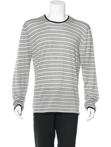 Armani Collezioni Striped Silk Sweater None