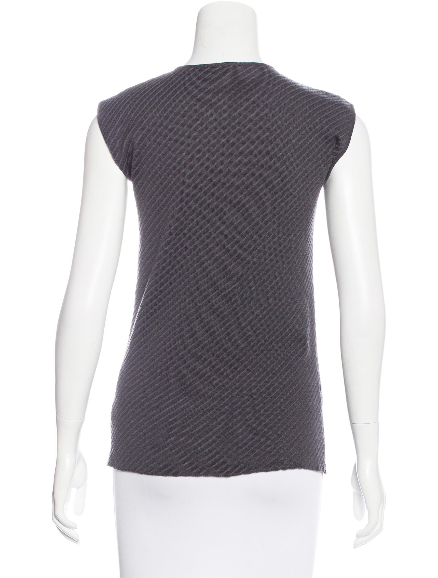 Armani collezioni wool sleeveless top clothing for Best wool shirt jackets