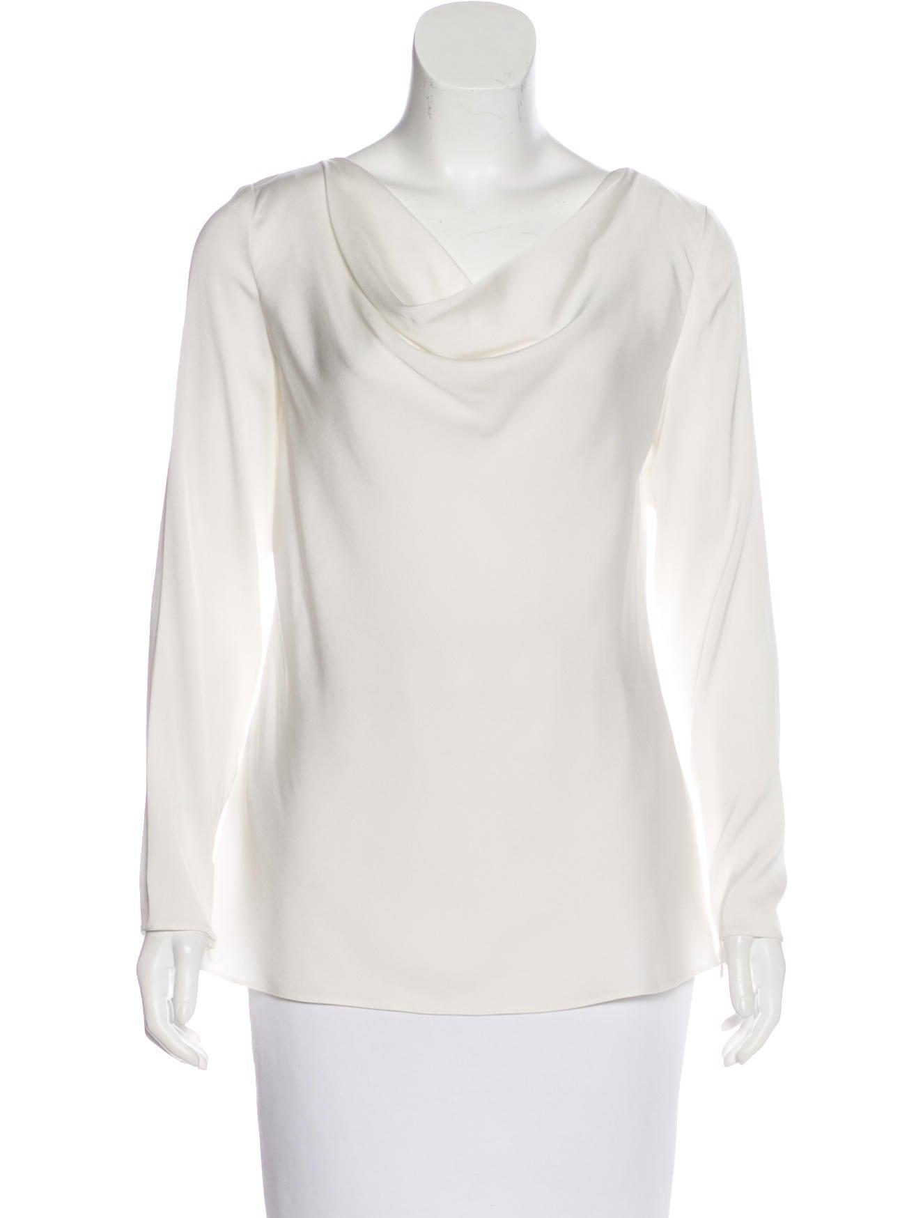 58218129 Armani Collezioni Silk Long Sleeve Blouse w/ Tags - Clothing ...