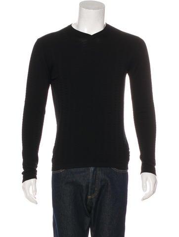 Armani Collezioni Knit V-Neck Sweater None
