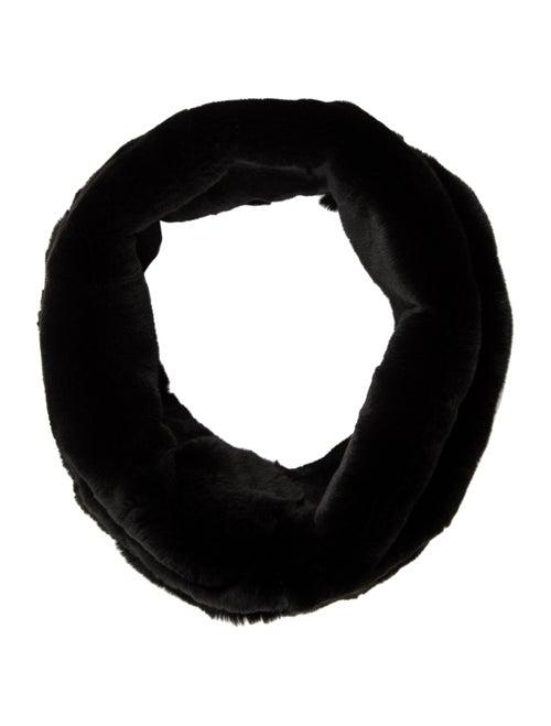Armani Collezioni Rabbit Fur Snood Black