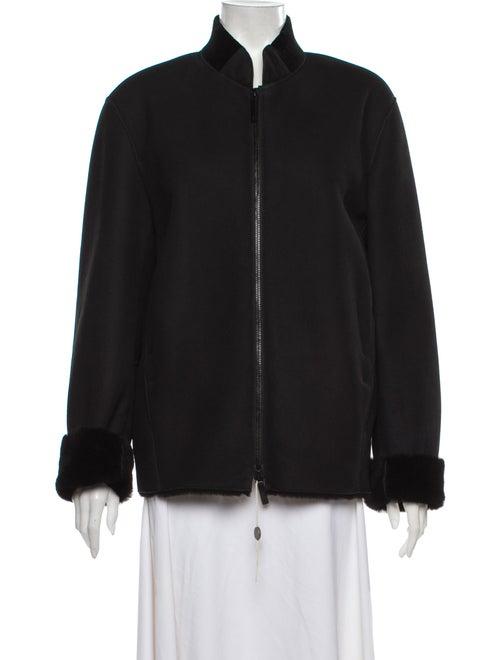 Armani Collezioni Shearling Bomber Jacket w/ Tags