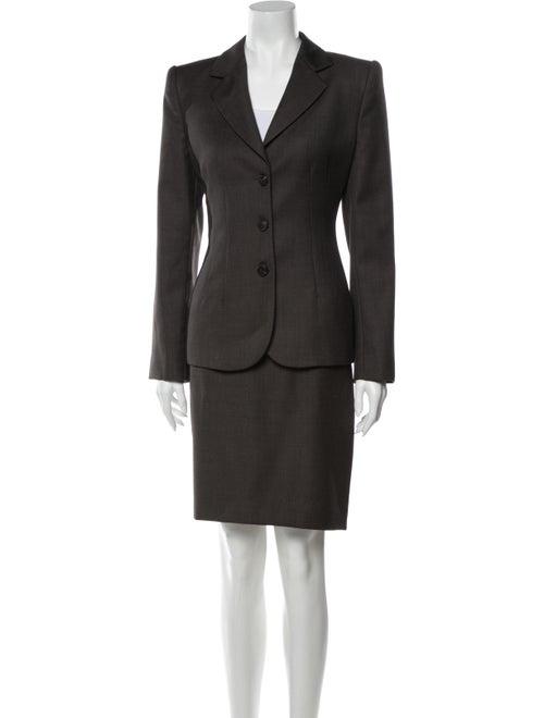 Armani Collezioni 2002 Wool Skirt Suit Wool