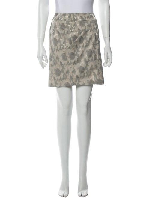 Armani Collezioni Printed Mini Skirt Grey