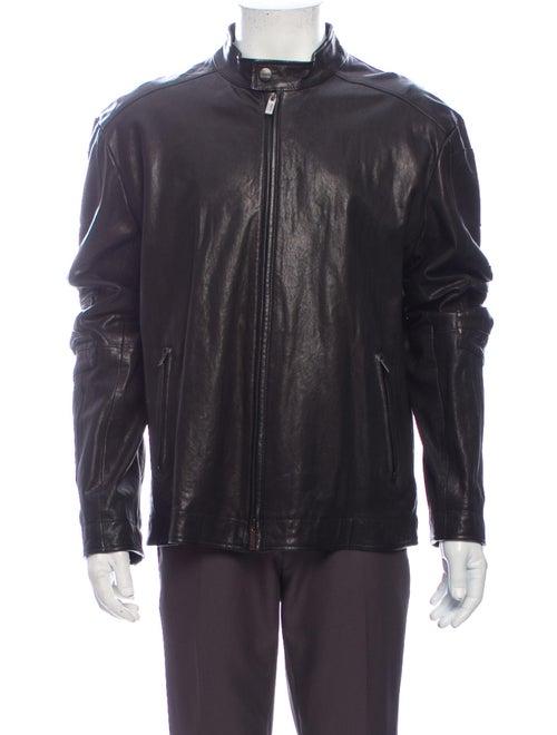 Armani Collezioni Moto Jacket Black