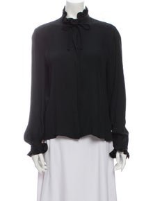 Armani Collezioni Mock Neck Long Sleeve Blouse w/ Tags