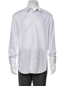 Armani Collezioni Striped Long Sleeve Dress Shirt