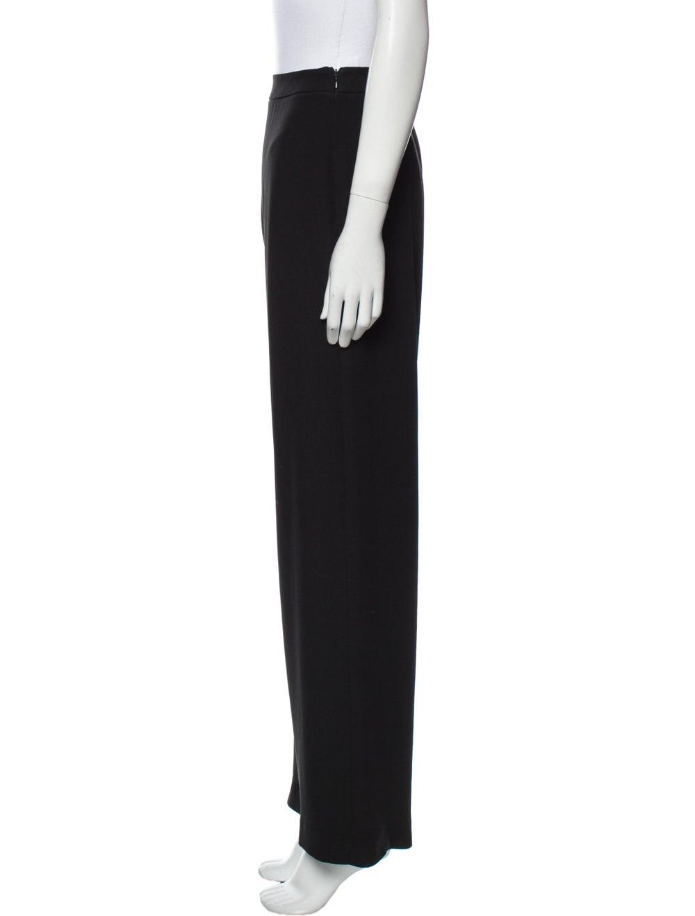 Armani Collezioni Wide Leg Pants Black - image 2