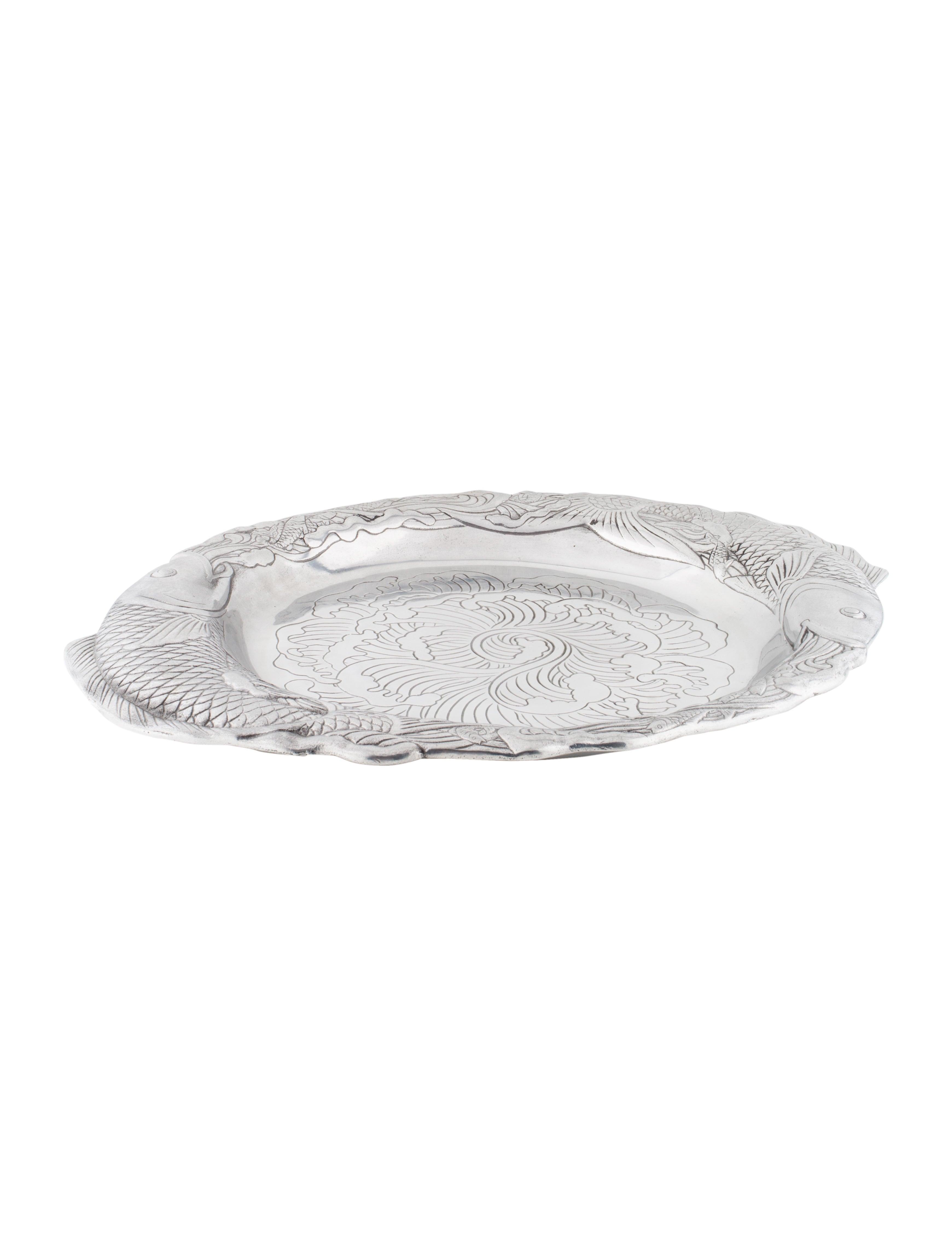 Arthur court coy fish serving platter tabletop and for Fish serving platter