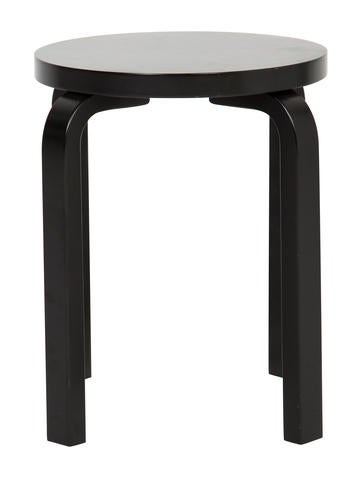 Artek Alvar Aalto E60 Lacquered Stool Furniture