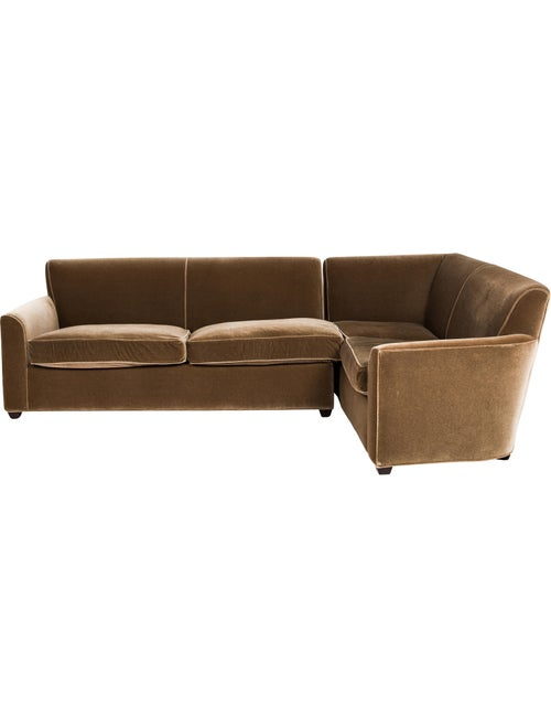 Remarkable A Rudin 2 Piece Mohair Sectional Furniture Arudi20002 Ibusinesslaw Wood Chair Design Ideas Ibusinesslaworg