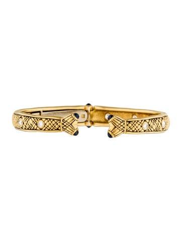 Alex Sepkus 18K Diamond & Sapphire Cuff Bracelet