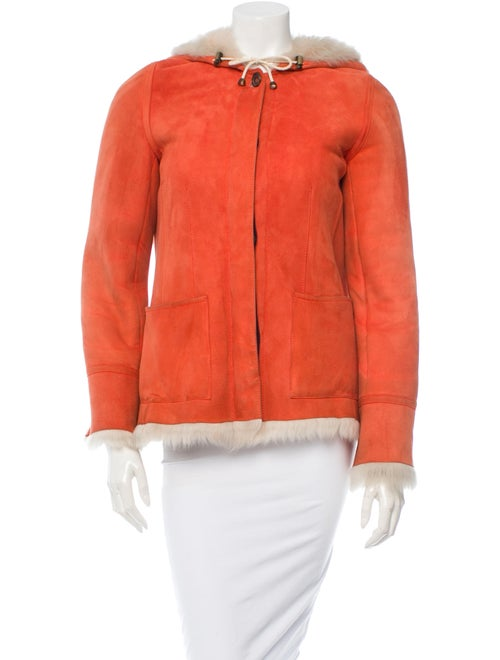 Asprey Shearling Jacket Orange