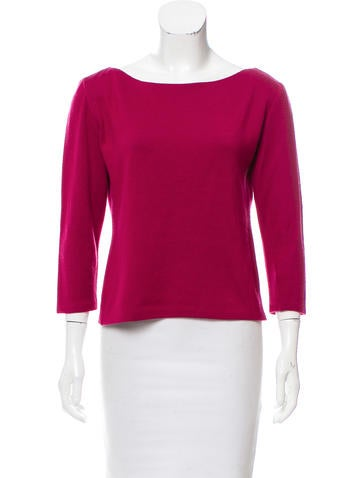 Asprey Cashmere-Blend Knit Top None