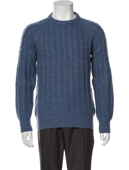 Asprey Cashmere Crew Neck Pullover Blue