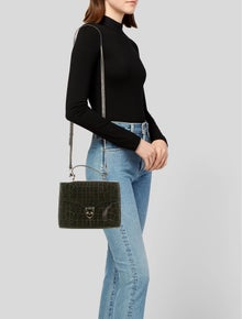 Aspinal of London Leather Embossed Satchel
