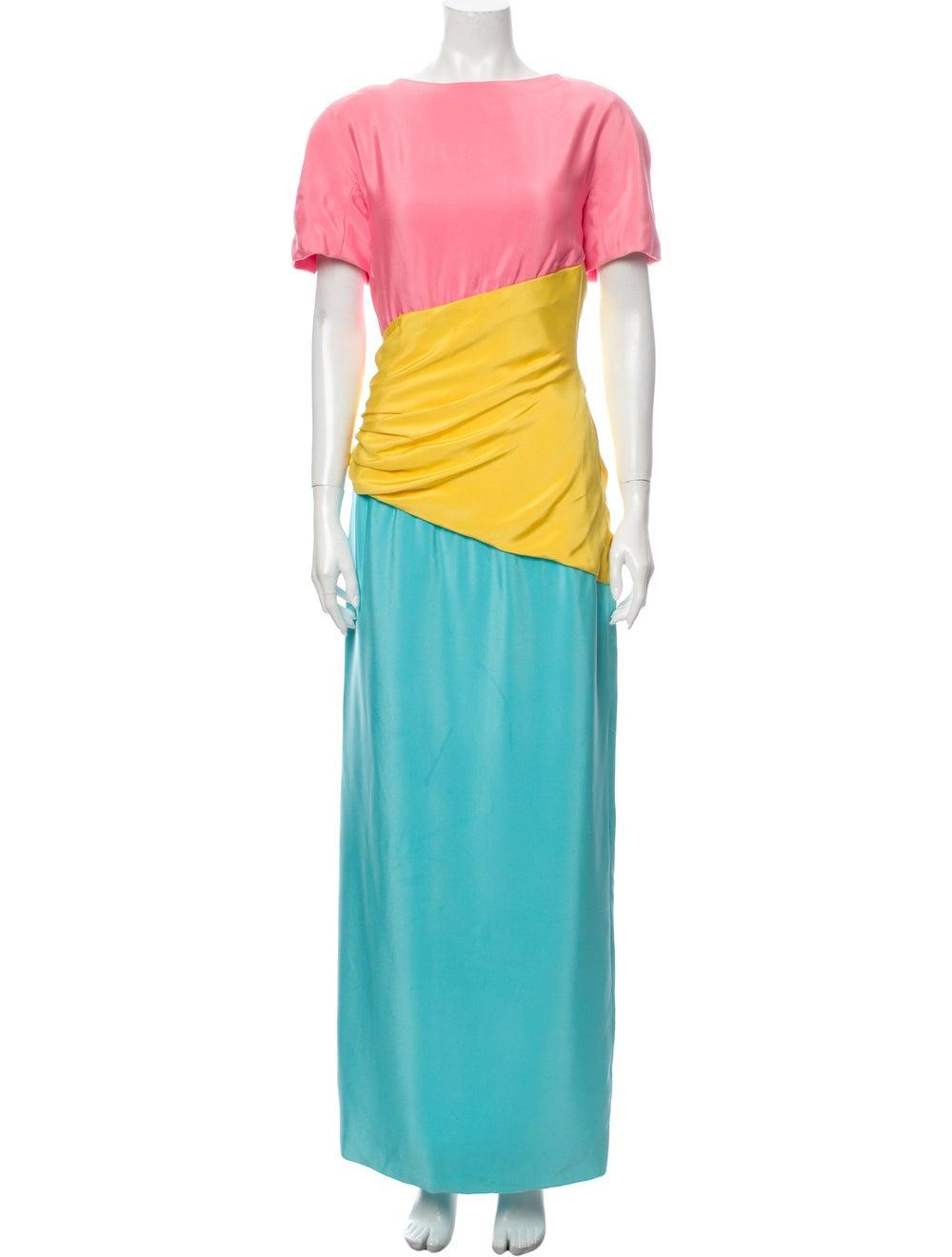 Arnold Scaasi Vintage Long Dress Pink - image 1
