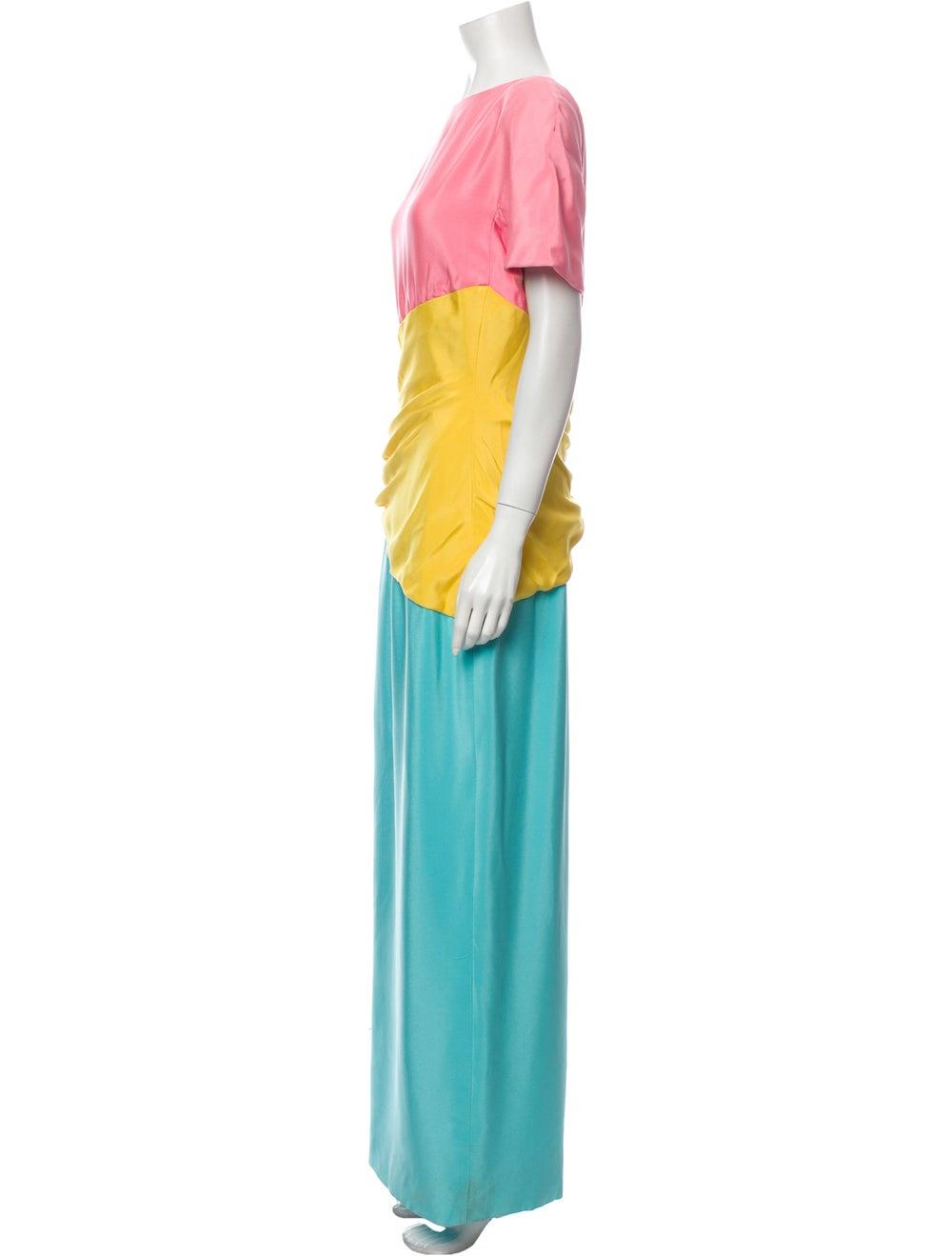 Arnold Scaasi Vintage Long Dress Pink - image 2