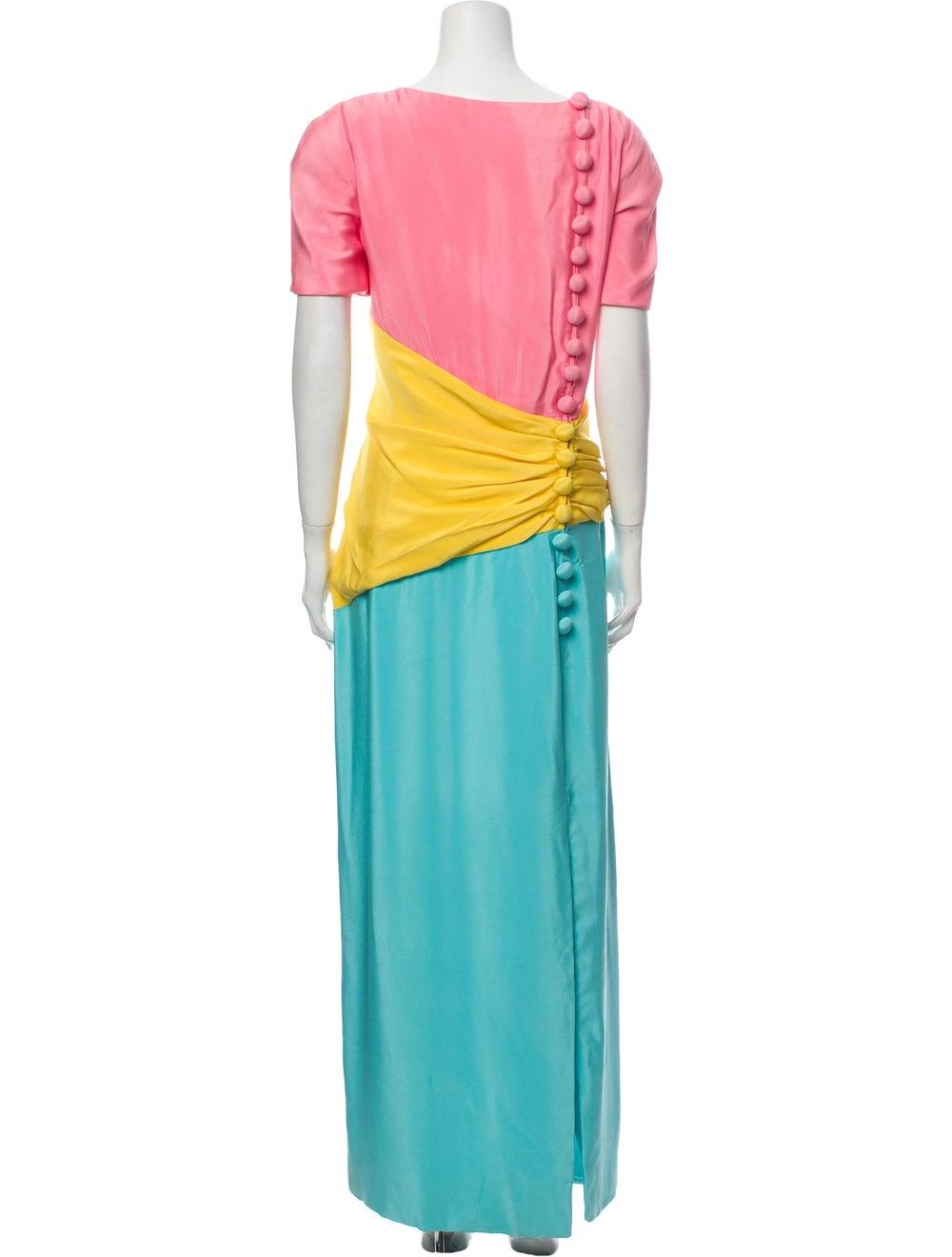 Arnold Scaasi Vintage Long Dress Pink - image 3